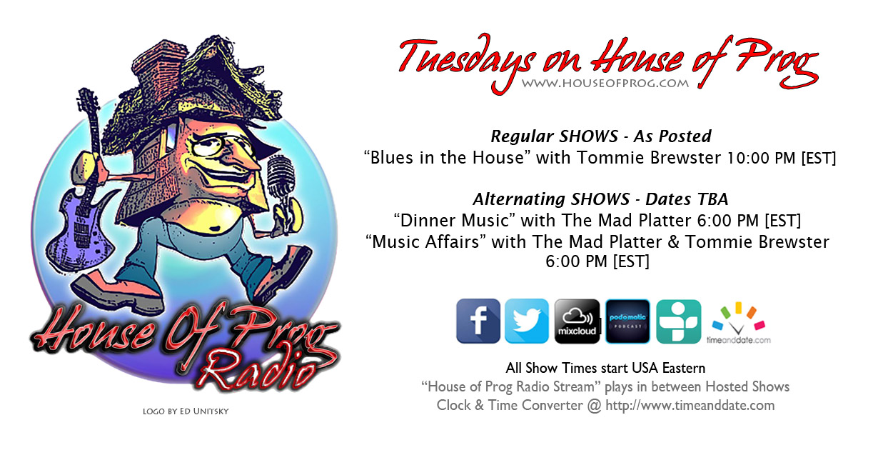 HOP – TUESDAY, JULY 12th – Mix it up a bit! TWO great shows TODAY.