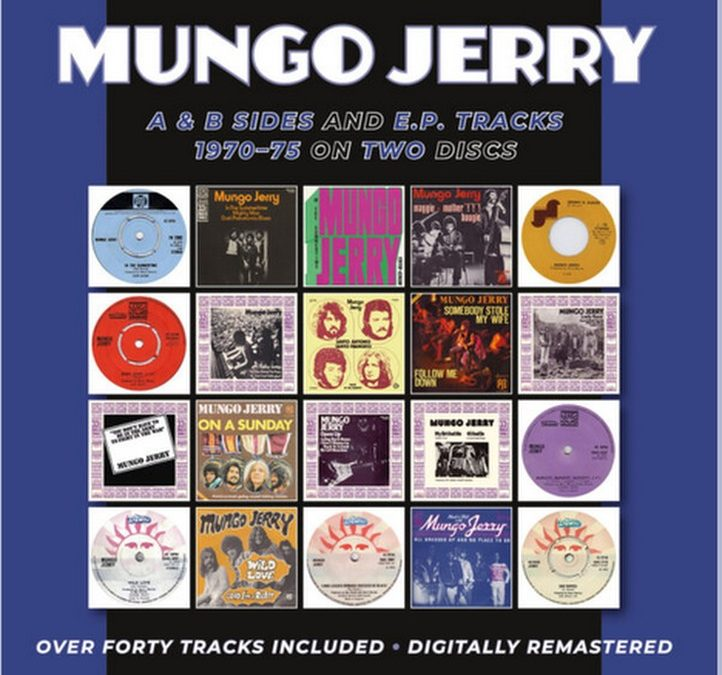 """Mungo Jerry- """"A&B Sides and EP. Tracks (1970 to 1975 ) Reissue 2020"""